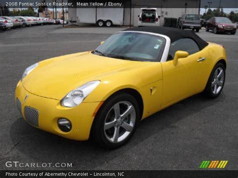 pontiac solstice yellow yellow 2008 pontiac solstice roadster