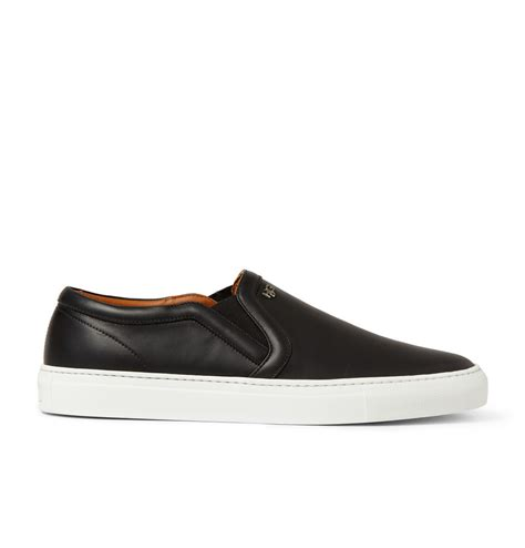 givenchy skate shoes in leather in black for lyst