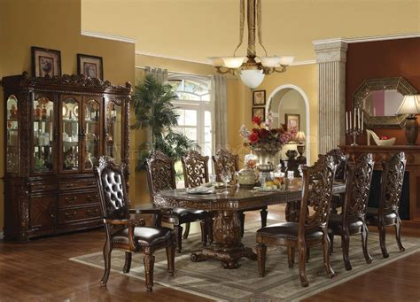 Formal Dining Room Furniture 60000 Vendome Dining Table In Cherry By Acme