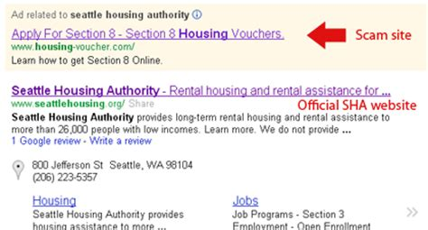 websites for section 8 housing scam websites target applicants to seattle s low income