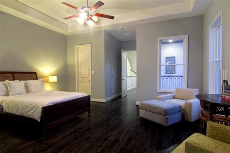 wood floor soft greyblue walls master bedroom wood floors wood