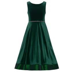 Editions big girls green velvet jeweled waist a line christmas dress
