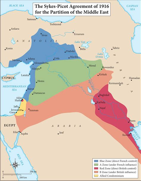 map   sykes picot agreement