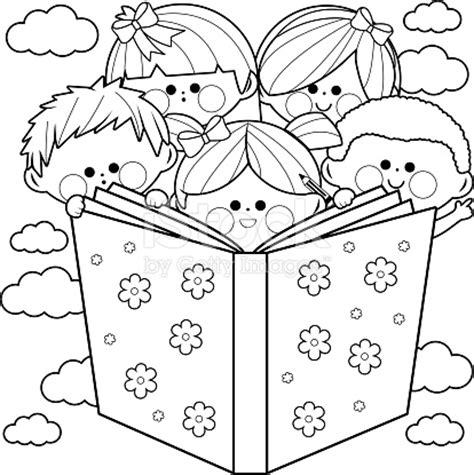 for our daughters a coloring book books black and white clipart of reading books