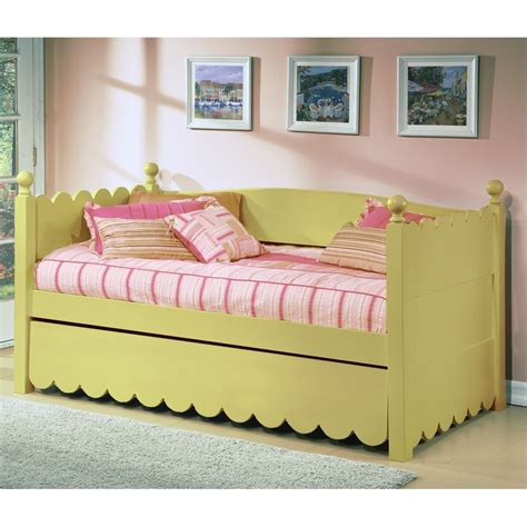 Ballyshannon Twin Bed With Pop Up Trundle Bedroom Wood Pop Up Trundle Bed