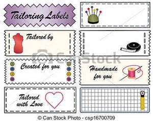 vector clipart of tailoring sewing labels tailoring