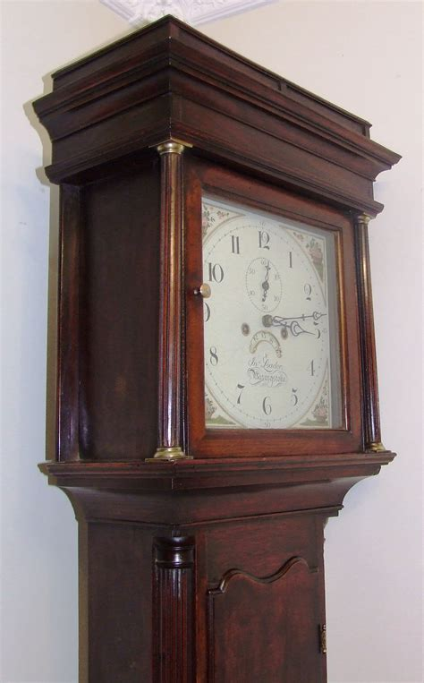 For Sale Antique by Antique Oak Mahogany Longcase Grandfather Clock By Jno