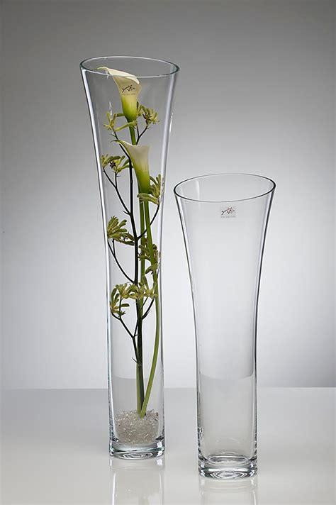 Deko Vasen Glas by Glasvase Blumenvase Bodenvase Vase 70 Cm Glas Hoch Deko Ebay