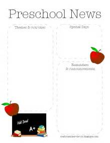 free newsletter templates for preschool free printable preschool monthly newsletter template