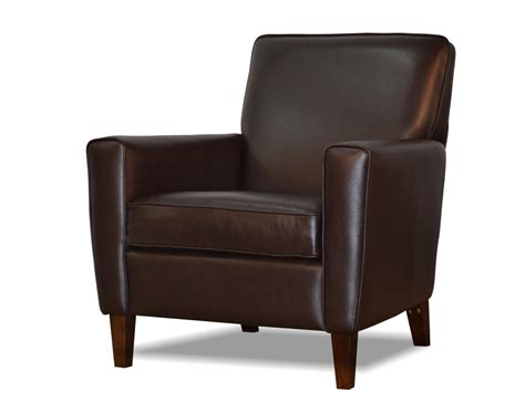 Brown Leather Accent Chair Genuine Espresso Brown Leather Accent Chair Club Chair