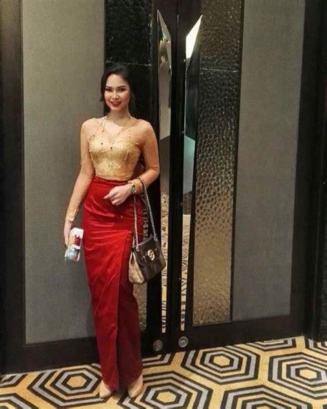 myanmar dress pakaian wanita