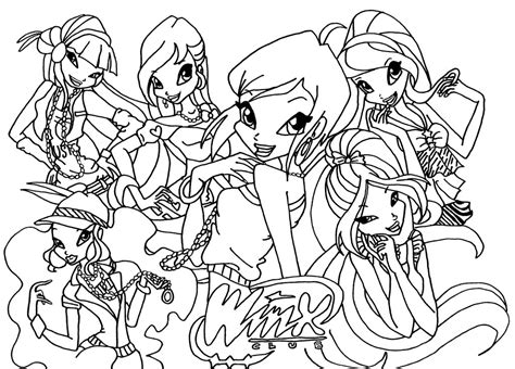 Winx Club Coloring Pages Winx Club Coloring Page