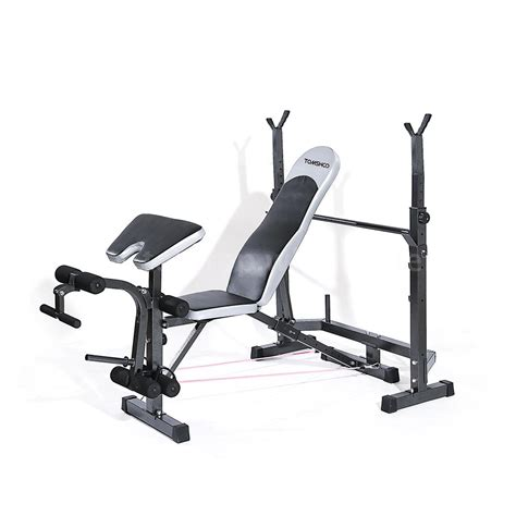body ch bench press tomshoo gym total body workout bench set home fitness