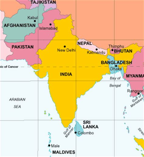 political map south asia south asia political map