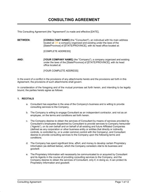 Letter Of Agreement Consulting Services 25 consulting agreement sles sles and templates
