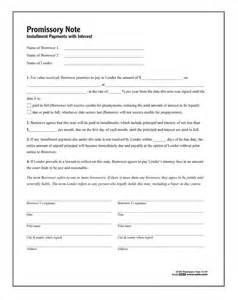 promissory note forms and instructions