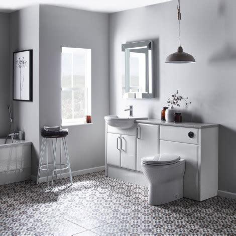 capella white fitted bathroom furniture roper
