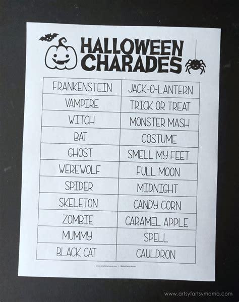 halloween charades free printable halloween game the free printable halloween activity pack artsy fartsy mama