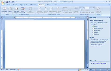 Word Office 2007 Edit A Data Document Data Source 171 Mail Merge