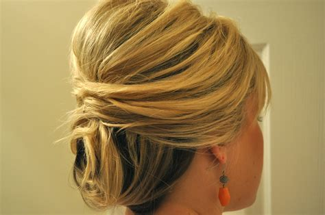 do it yourself hair stylesfor shoulder length hair half up to full updo the small things blog