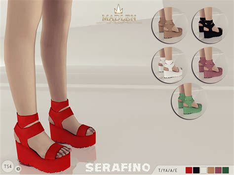 sims 4 shoes the sims resource mj95 s madlen serafino sandals