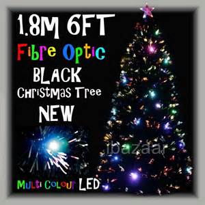 premium 1 8m 6ft 180cm black density fibre optic christmas