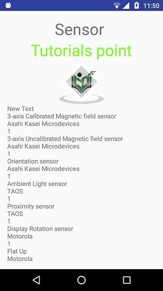 Android Studio Sensor Tutorial   android sensors tutorial