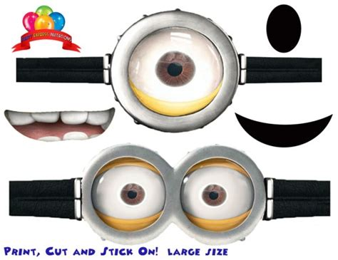 printable minion eyes template 9 best images of printable despicable me goggles free