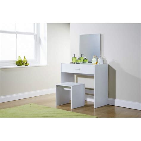 julia white dressing table desk  stool mirror dresser
