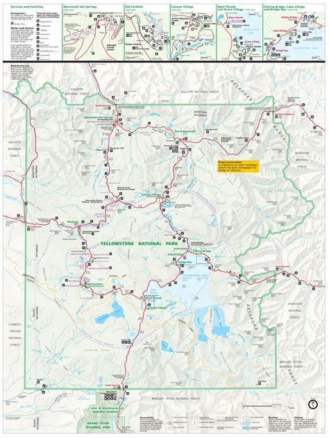 map of yellowstone yellowstone national park tourist map yellowstone up