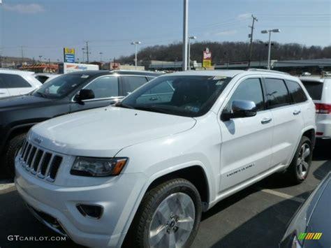 white jeep 2014 2014 bright white jeep grand cherokee overland 4x4