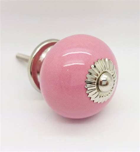 Pink Drawer Knobs by Pink Ceramic Door Knobs Cupboard Drawer Pull Handles By G