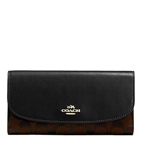 Coach Wallet F59112 Compact Id Lether Black Navy coach lussocitta