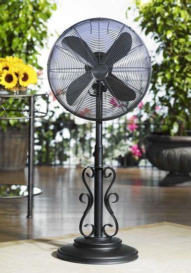 deco breeze outdoor fan ebony deco adjustable outdoor standing fan