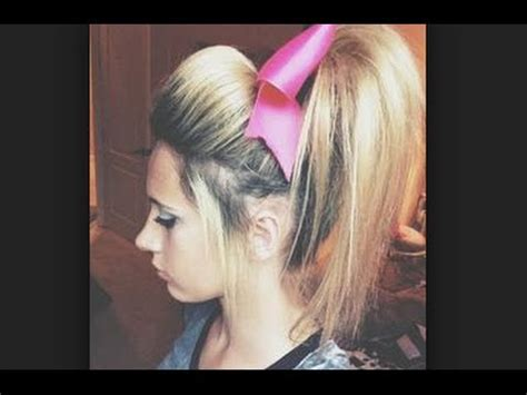 guys hair style poof in front cheer hair tutorial perfect poof for practice youtube