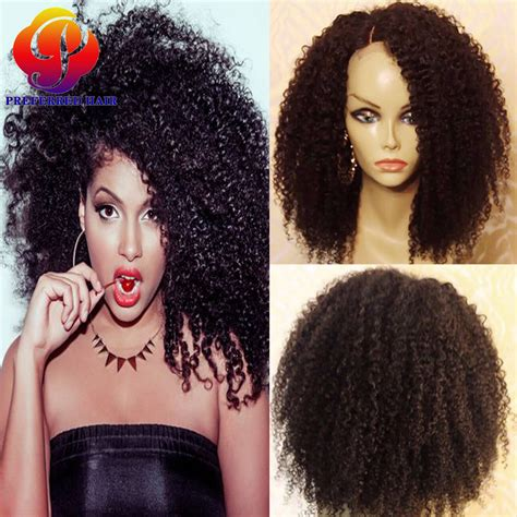 black curly kinky sew in sew in kinky curly wig human hair lace front bob wigs