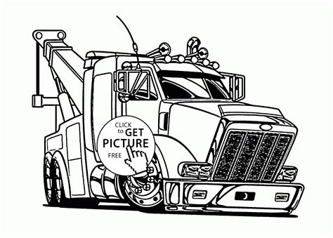 tow trucks coloring pages coloring home
