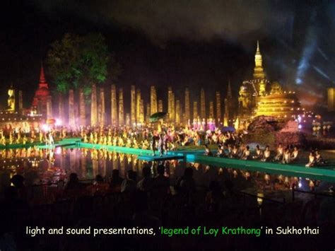 thailand loy krathong festival of lights with beautiful