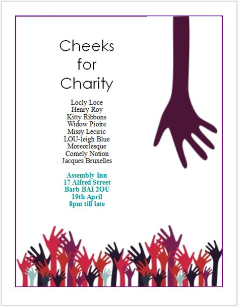 Charity Event Flyer charity event flyer templates