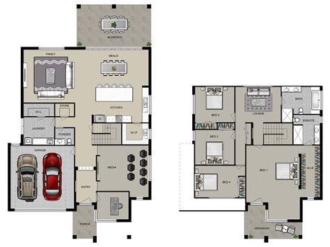 double floor house plans beauteous double storey house plans house07 doublestory