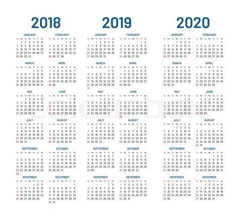 year    calendar vector stock vector colourbox