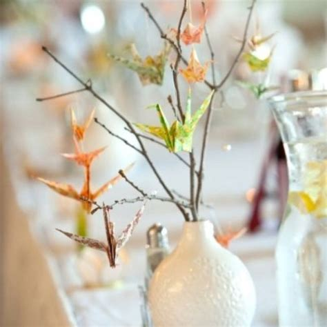 Origami Crane Centerpieces Getting Hitched