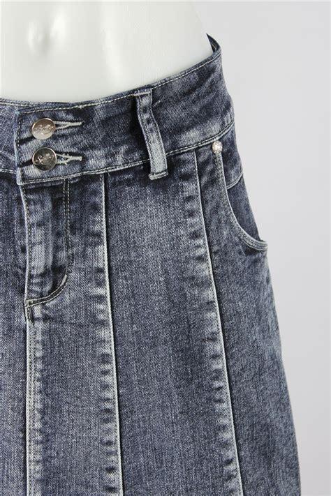 blue waterfall denim skirt sizes 6 16