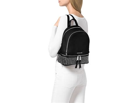 Michael Kors Rhea Backpack lyst michael michael kors medium rhea zip grommet
