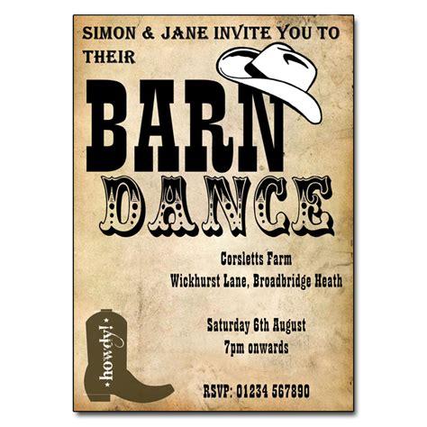 barn dance invitation party invites