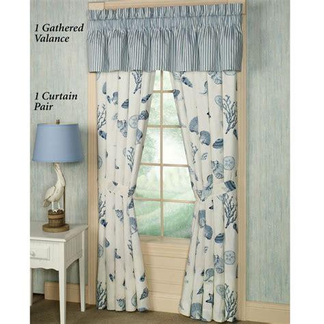 ocean themed window curtains window treatments beach theme by the sea blue window