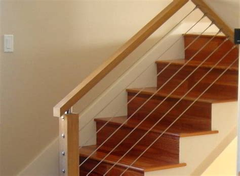 cable banister stair cable railing modern staircase other by