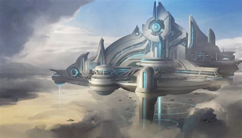 A Floating City psionic floating city by franklinchan on deviantart