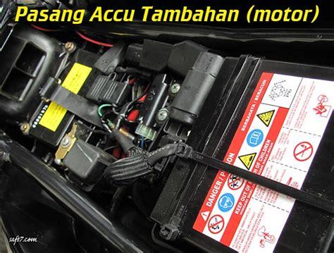 Lu Hid Motor Adalah pasang accu tambahan motor otomotif robotik