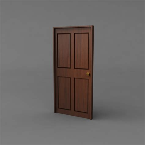 simple door simple classic door 3d model obj ma mb mtl cgtrader com